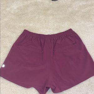 Lululrmon pleated high waist shorts